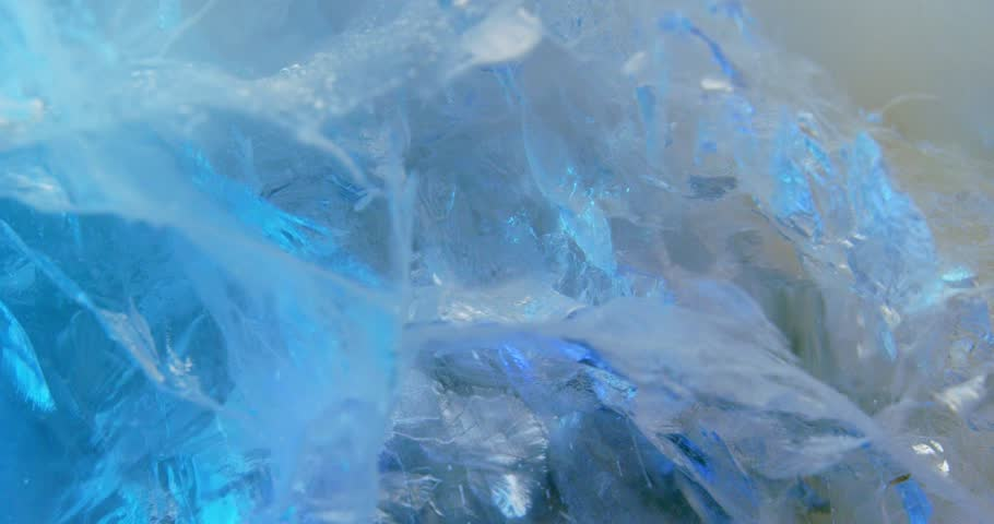 Abstract ice composition. Macro. 4K.   Shutterstock HD Video #1024269119