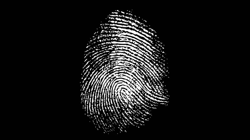 Various Fingerprints Running on black background. 4K | Shutterstock HD Video #1024295813