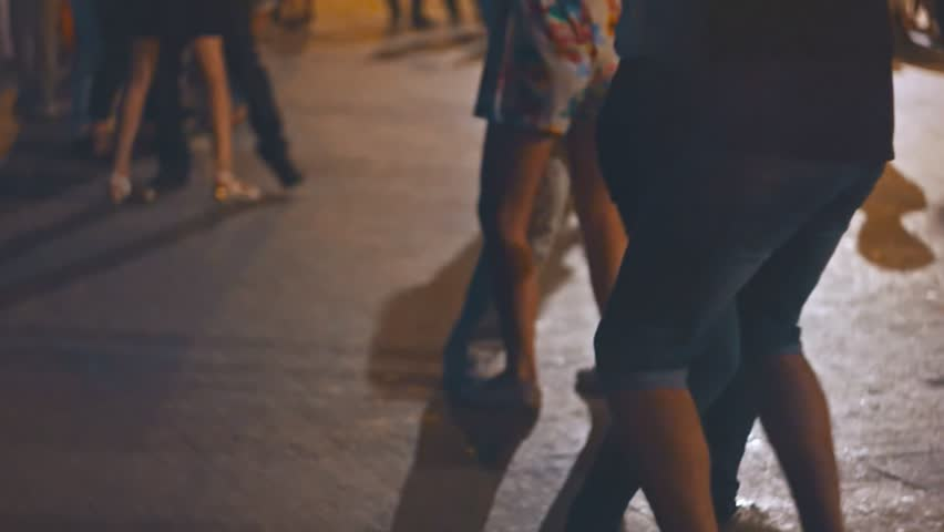 Open-air music festival. Young people enjoy open-air salsa dancing festival