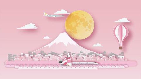 Japan Sakura Cartoon Background Stock Video Footage 4k And Hd Video Clips Shutterstock