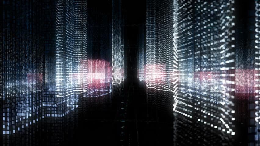 Digital city, abstract tech animation | Shutterstock HD Video #1024334741