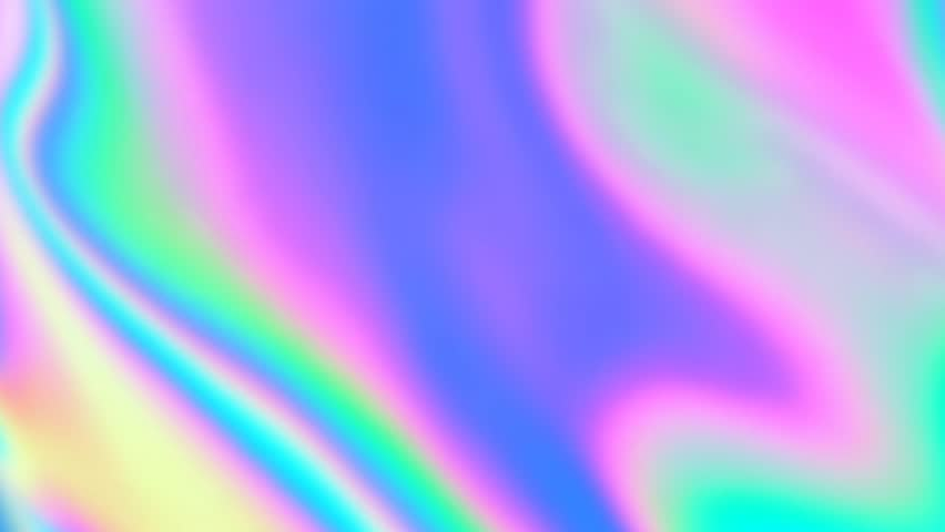 Holographic texture with iridescent neon and pastel gradient colors.