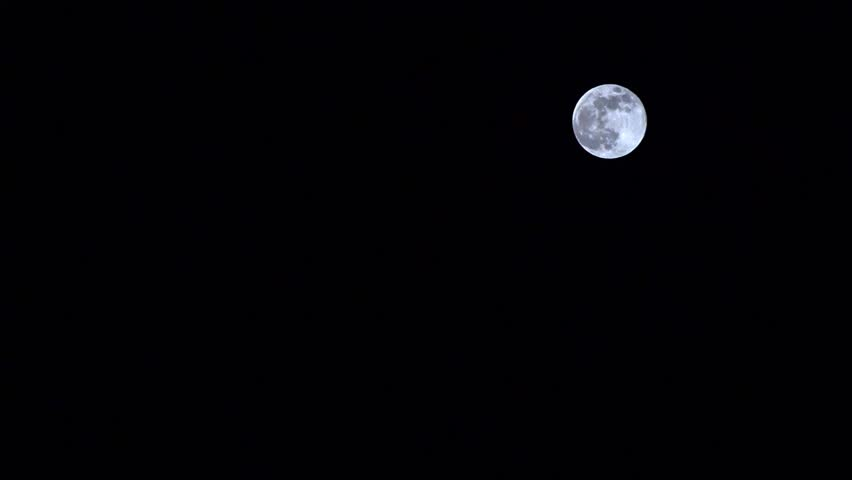 Super moon. A unique phenomenon in 2019. The moon is closest to the earth. copy space   Shutterstock HD Video #1024431773
