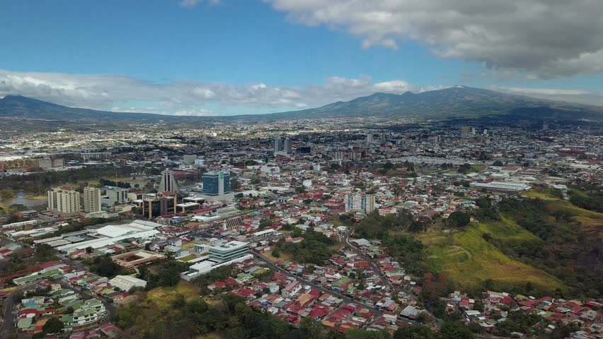 Beautiful Cinematic view of the town of San Jose Costa Rica