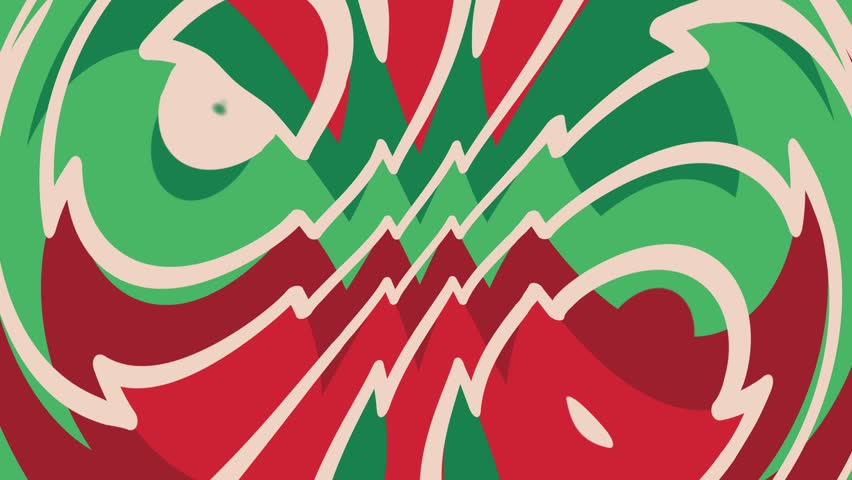 Abstract seamlessly looped animated pattern in Christmas colors. | Shutterstock HD Video #1024440920