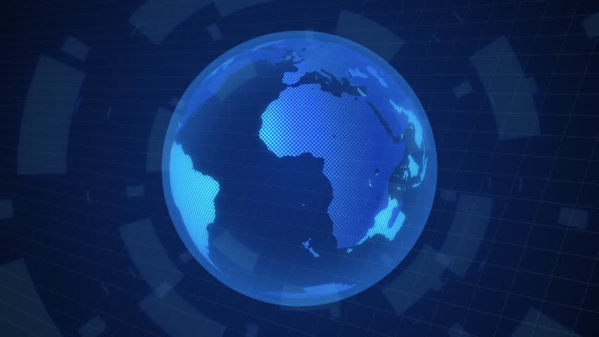 Digital world map rotate animation motion graphic worldwide concept | Shutterstock HD Video #1024459280
