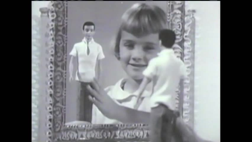 CIRCA 1960s - You can mix and match a variety of different outfits for Barbie according to this commercial from the 1950s