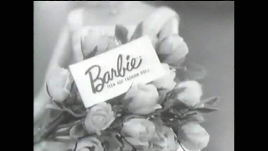 CIRCA 1960s - A commercial for Barbie Dolls from the 1950s