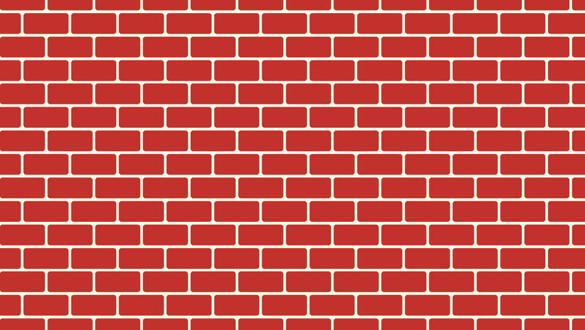 Brown Brick Wall Background Cartoon Stock Footage Video 100