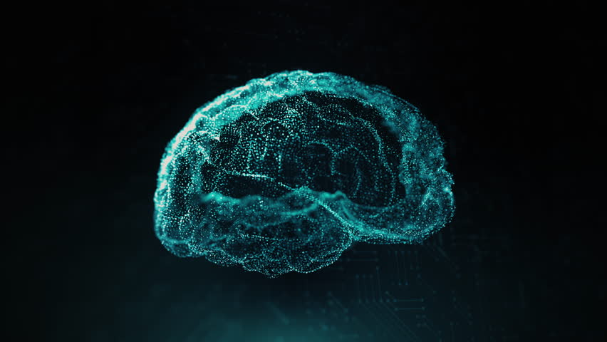 AI Deep Learning 4K, 3D Visual representation of the deep learning neural system.  Royalty-Free Stock Footage #1024557125