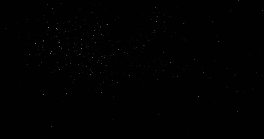 Flying dust particles on a black background #1024594301