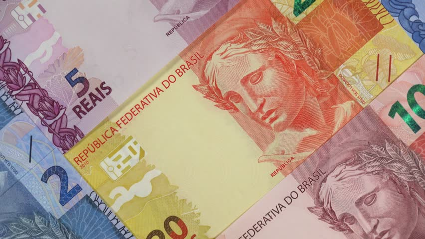 Brazil real notes slow rotating. Brazilian money, currency. Stock video footage | Shutterstock HD Video #1024595543
