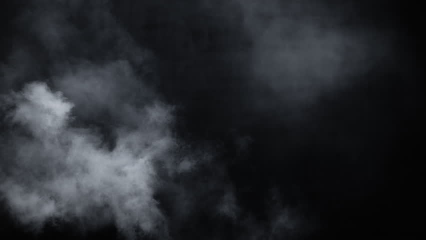 Spooky magic halloween. Atmospheric smoke VFX element. Haze background. Abstract smoke cloud. Smoke in slow motion on black background. White smoke slowly floating through space against black bg | Shutterstock HD Video #1024598672