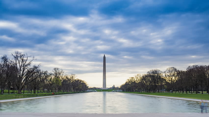 Washington Monument in early morning, located in Washington DC, USA. | Shutterstock HD Video #1024615616