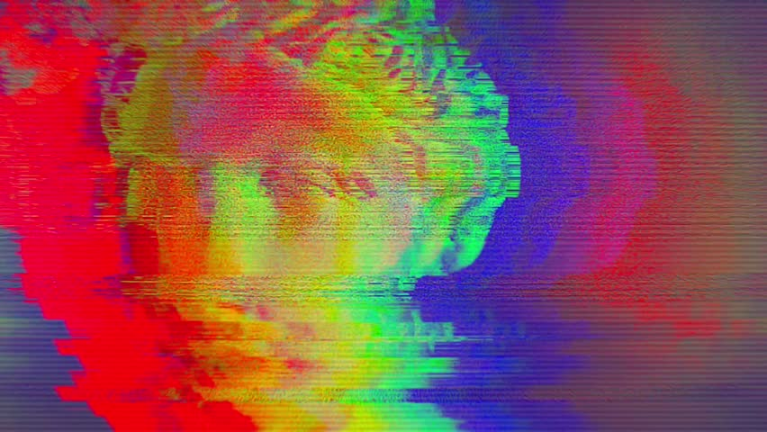 Digital pixel noise glitch art effect. Retro futurism 80s 90s dynamic wave style. Video signal damage with tv noise and old screen interference   Shutterstock HD Video #1024642010