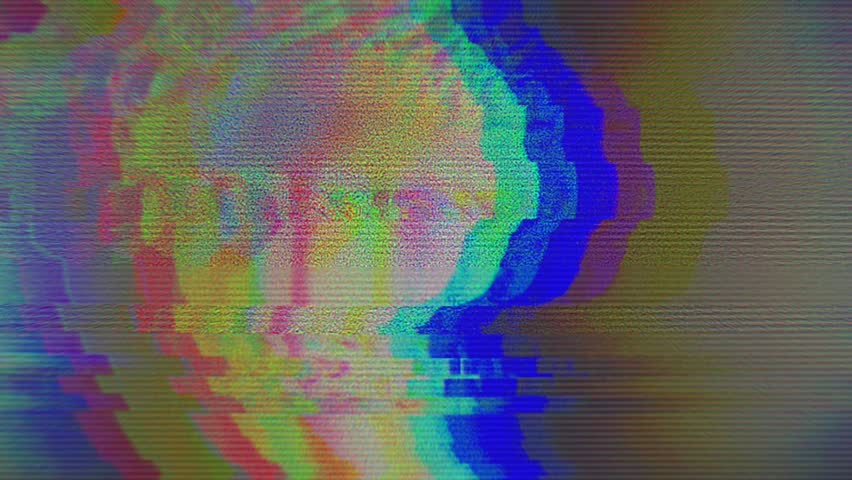 Digital pixel noise glitch art effect. Retro futurism 80s 90s dynamic wave style. Video signal damage with tv noise and old screen interference   Shutterstock HD Video #1024642013