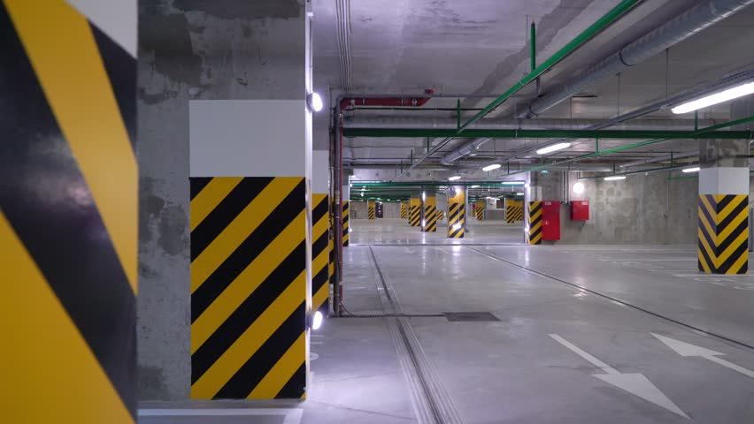 Empty underground parking garage. Cars | Shutterstock HD Video #1024642529