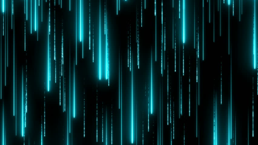 Bright blue beams moving down. Glitter neon particles. Digital data flow. Futuristic space. Information transfer. High tech texture concept. Abstract background. Seamless loop. | Shutterstock HD Video #1024644455