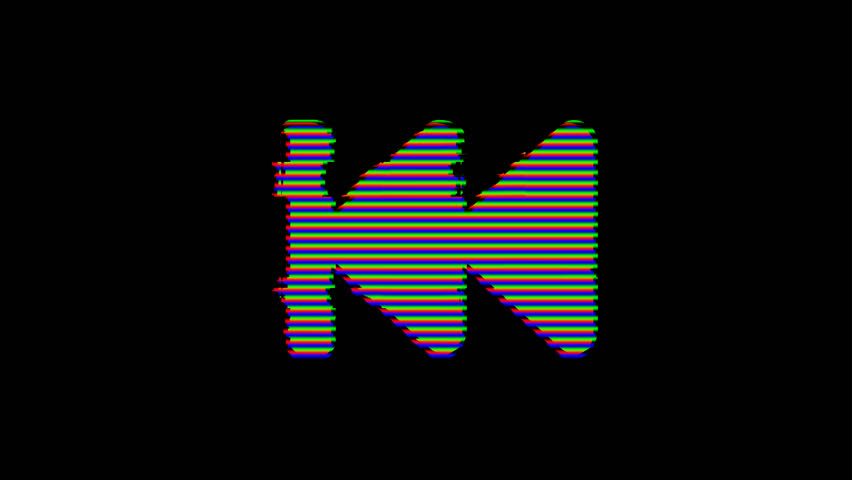 From the Glitch effect arises fast backward symbol. Then the TV turns off. Alpha channel Premultiplied - Matted with color black