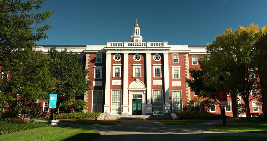 Boston, Massachusetts, USA – October 18, 2018: Harvard Business school university building in Cambridge Massachusetts USA.