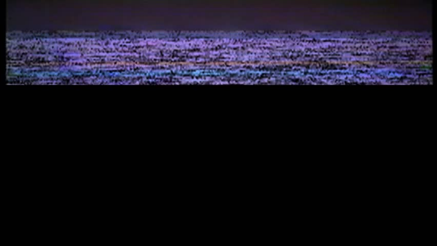 VHS real defects noise and artifacts, glitches from an old tape, black screen #1024734551
