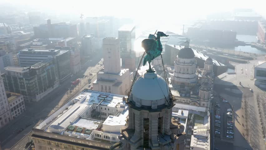 4K Aerial footage of Liverpool. Amazing fly around of the city