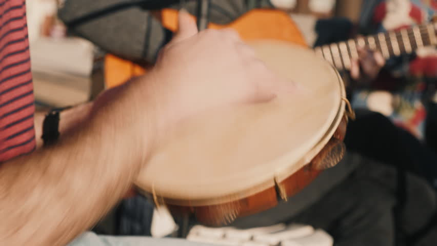Traditional music Street Performers, playing some instruments on a Music street Festival in the summer. 4K | Shutterstock HD Video #1024769726
