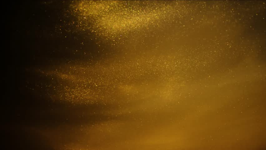 Golden sand or dust creating abstract cloud formations. Art backgrounds. | Shutterstock HD Video #1024787132