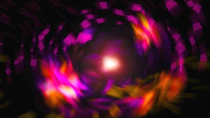 Bright abstraction with square shapes and flowers in the space, modern computer generated background, 3d rendering backdrop | Shutterstock HD Video #1024837433