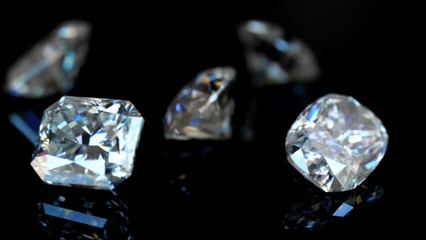 Diamonds on Black Background. Luxury Gems | Shutterstock HD Video #1024852352