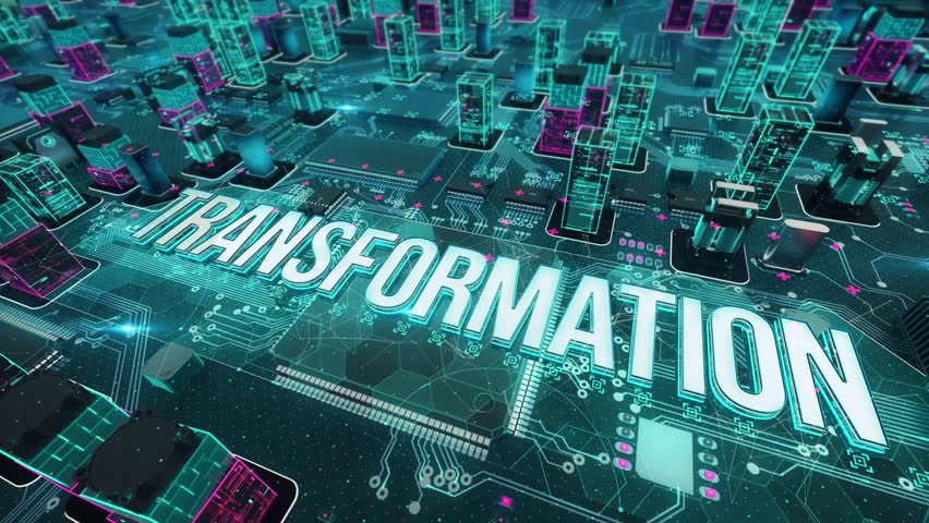 Transformation with digital technology concept | Shutterstock HD Video #1024878869