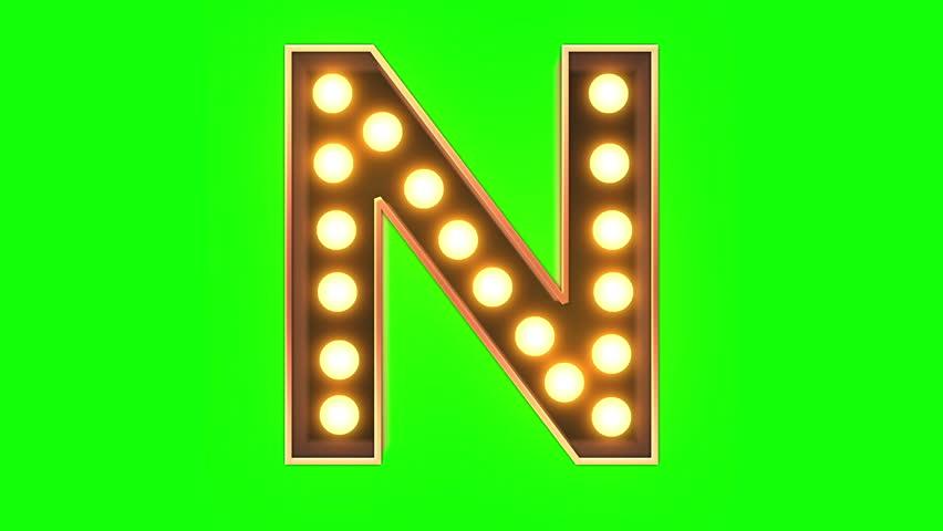 Bulb Light Typeface | Shutterstock HD Video #1024914374