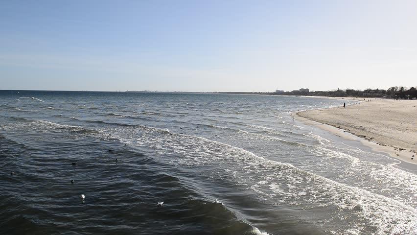 Coast of the Baltic Sea. Sea waves | Shutterstock HD Video #1024926614