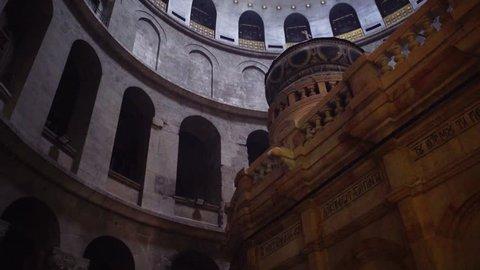 JERUSALEM - JANUARY 4, 2019: Church of the Holy Sepulchre.