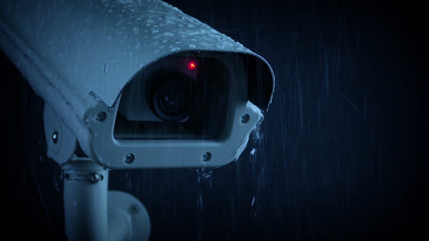 Passing CCTV Camera On Rainy Evening