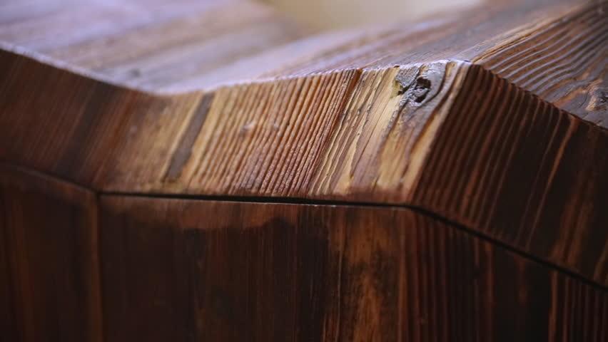 Wooden design piece of furniture - pan | Shutterstock HD Video #1025094668