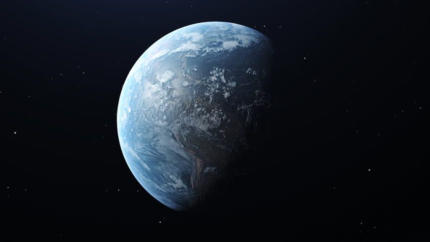 Planet earth orbit in space | Shutterstock HD Video #1025103746