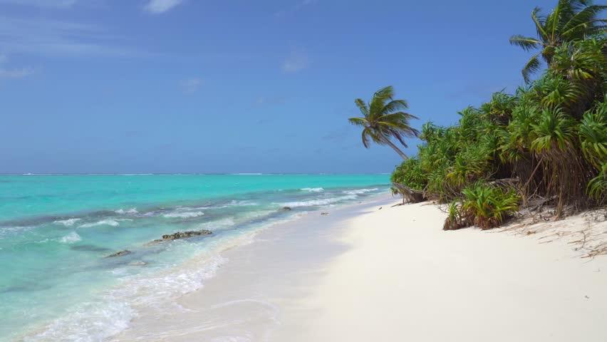 Tropical Sandy Beach of the Deserted Island Innafushi in Baa Atoll, Maldives   Shutterstock HD Video #1025161523