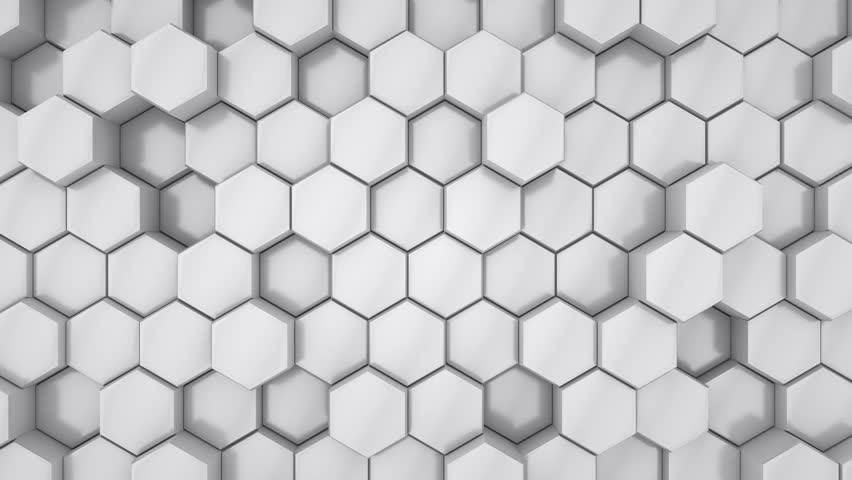 4K seamless loop animation. Abstract 3d rendering honeycomb hexagons background. Hexagons move a little on the surface. Close shot. | Shutterstock HD Video #1025175833