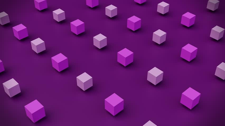 3d rendered Abstract geometric cubes loop animation 4k.  | Shutterstock HD Video #1025203568