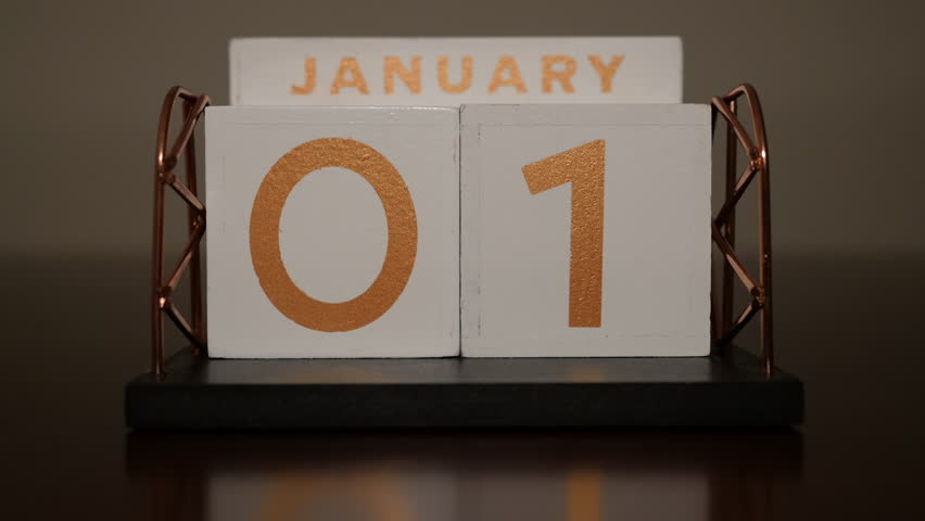 Time lapse of a full calendar year, done by swapping real wood blocks.  No days of the week are shown, making the clip work for any year! Filmed in full 4K at 3860x2140.