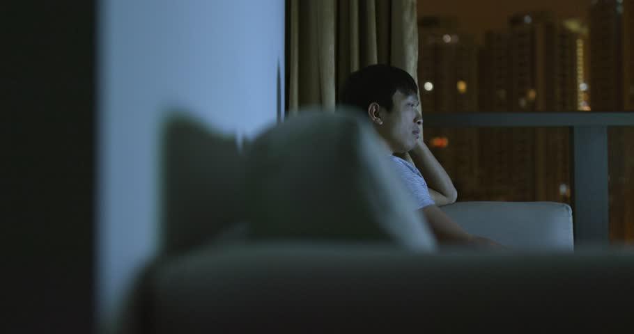 Man watch tv at home | Shutterstock HD Video #1025261732