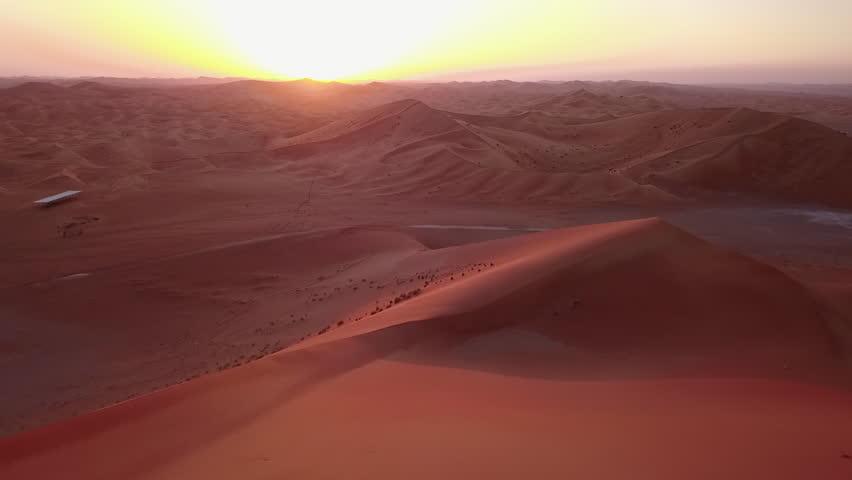 Desert Sunset in Dubai | Shutterstock HD Video #1025280290