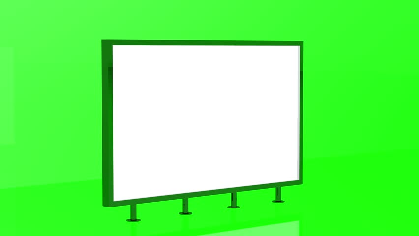 Stand display animation 3d render. Isolated on green background | Shutterstock HD Video #1025327123