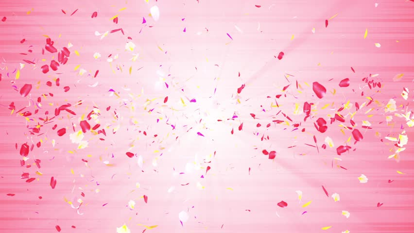 Colorful petals. Spiral shiny petals of blossoms. Flower pattern. Pretty dancing petal. Vortex from spin petals. Abstract loop animation. | Shutterstock HD Video #1025333441