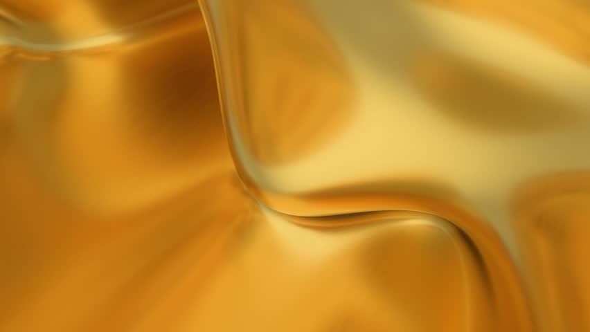 Abstract Gold Liquid Golden Wave Arkivvideomateriale 100 Royaltyfritt 1025342318 Shutterstock