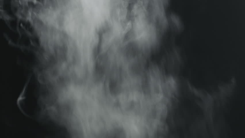Slow motion vapor steam from right over black background | Shutterstock HD Video #1025433119