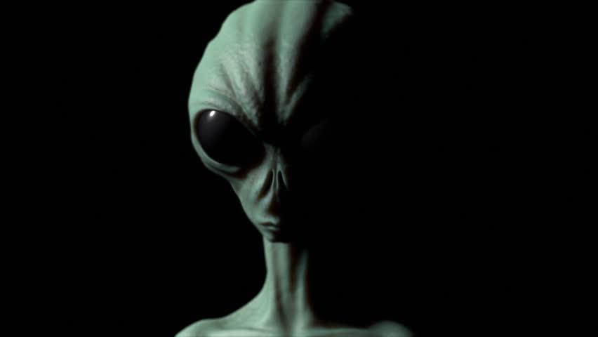 Alien realistic animation, extraterrestrial