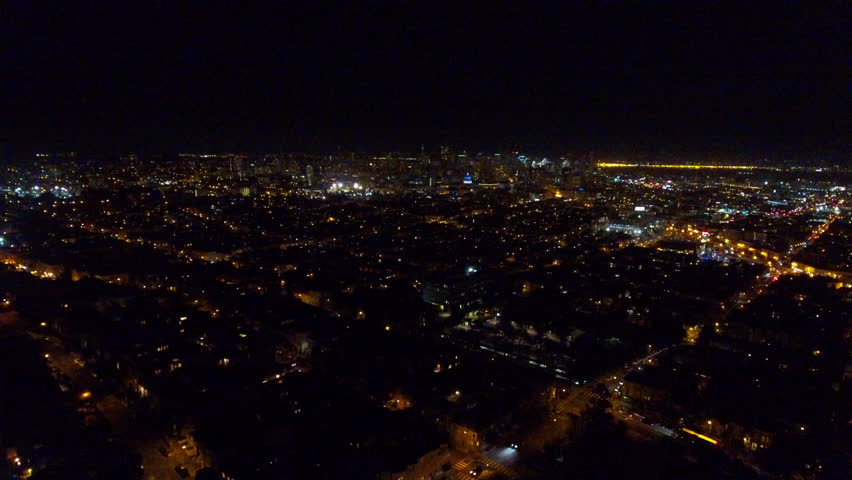 Aerial View. Suburb Of Las Vegas. The City Is Sleeping.