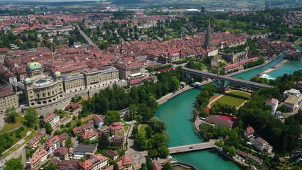 Aerial Switzerland Bern June 2018 Sunny Day 30mm 4K Inspire 2 ProresAerial video of downtown Bern in Switzerland on a beautiful sunny day.